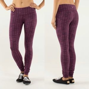 Lululemon Wunder Under Legging Ziggy Wee Raspberry